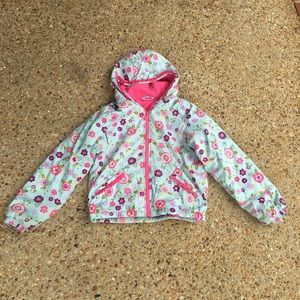 Hanna Anderson Girls Floral Winter Coat Jacket